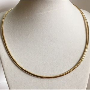 Jewelry - 14KT Italy Yellow Gold Omega Collar Necklace 18""